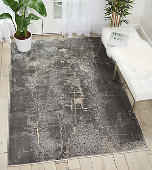 Nourison Home Heritage Charcoal Gray 5'x7' Area Rug, Charcoal, rollover