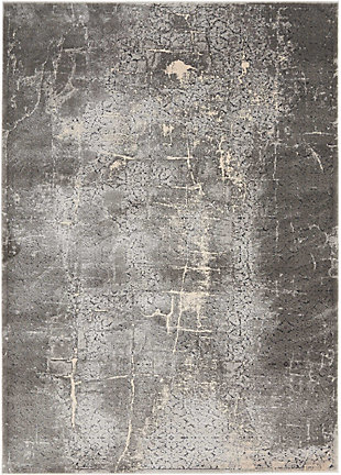 Nourison Home Heritage Charcoal Gray 5'x7' Area Rug, Charcoal, large