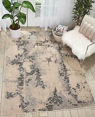 Nourison Home Heritage Beige 5'x7' Area Rug, Beige, rollover
