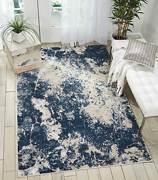 Nourison Home Heritage Beige and Blue 5'x7' Area Rug, Beige/Blue, rollover