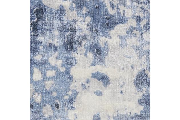 Nourison Dreams Slate Blue And White 8'x11' Oversized Rug, Blue, large