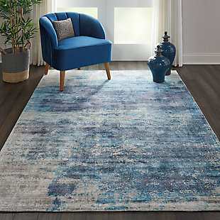 Nourison Dreams Blue 5'x8' Area Rug, Teal, rollover