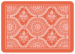 "Home Accents Premium Comfort 1'10"" x 2'7"" Deep Floral Mat, Red, large"