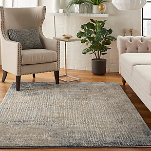 Nourison Moroccan Celebration 5'x7' Area Rug, Ivory/Gray, large