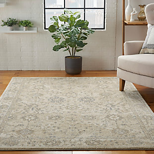 Nourison Moroccan Celebration 5'x7' Area Rug, Ivory/Sand, rollover