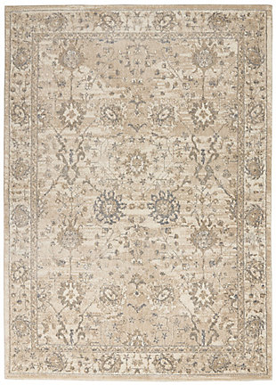 Nourison Moroccan Celebration 5'x7' Area Rug, Ivory/Sand, large