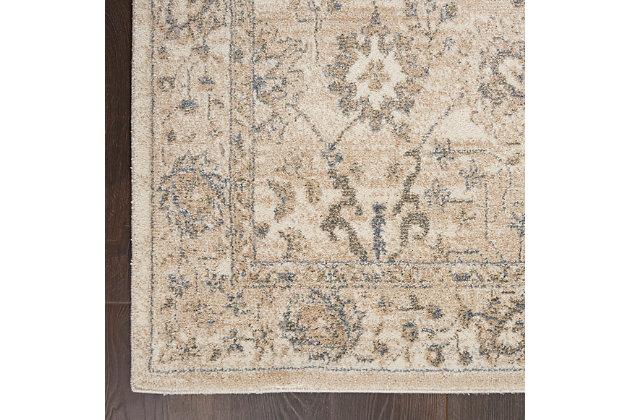 Nourison Moroccan Celebration 5'x7' Area Rug, Ivory/Sand, large