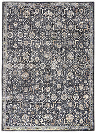 Nourison Moroccan Celebration 5'x7' Area Rug, Navy, large
