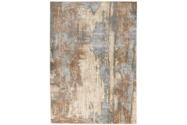 Nourison Moroccan Celebration 5'x7' Area Rug, Gray/Beige, large