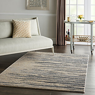 Nourison Moroccan Celebration 5'x7' Area Rug, Blue/Beige, large