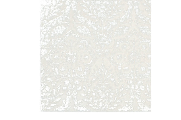 Nourison Silver And Ivory 4'x6' Area Rug, Ivory/Silver, large