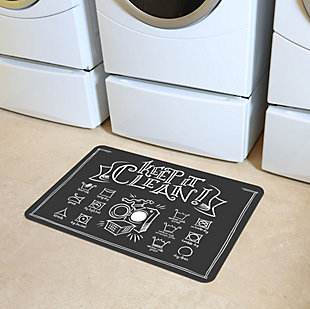 "Home Accents Premium Comfort 1'10"" x 2'7"" Keep It Clean Laundry Mat, , large"