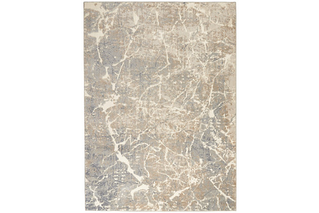 Nourison Beige and Ivory 5'x7' Area Rug, Ivory/Beige, large
