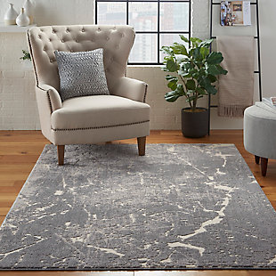 Nourison Charcoal Gray 5'x7' Area Rug, Ivory/Slate, rollover