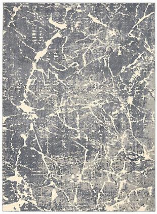 Nourison Charcoal Gray 5'x7' Area Rug, Ivory/Slate, large