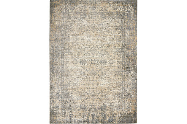 Nourison Moroccan Celebration 5' x 7' Area Rug, Ivory/Slate, large
