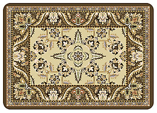 "Home Accents Premium Comfort 1'10"" x 2'7"" Siam Mat, Brown, large"