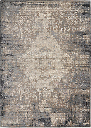 Nourison Moroccan Celebration 5' x 7' Area Rug, Gray/Slate, large