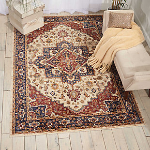 Nourison Multicolor 5'x8' Area Rug, Cream, rollover
