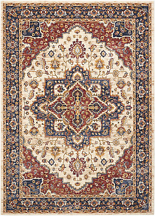 Nourison Multicolor 5'x8' Area Rug, Cream, large
