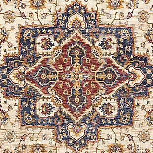 Nourison Multicolor 5'x8' Area Rug, Cream, large