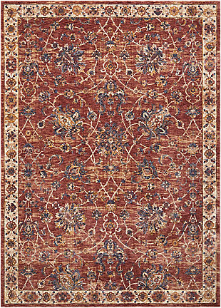 Nourison Red 5'x8' Area Rug, Brick, large
