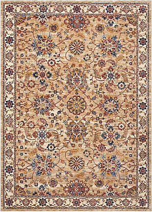 Nourison Beige Multicolor 5'x8' Area Rug, Natural, large