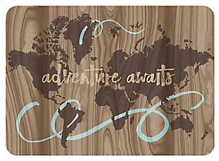 "Home Accents Premium Comfort 1'10"" x 2'7"" Adventure Awaits Mat, , rollover"