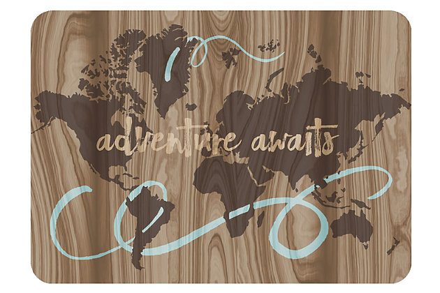 "Home Accents Premium Comfort 1'10"" x 2'7"" Adventure Awaits Mat, , large"