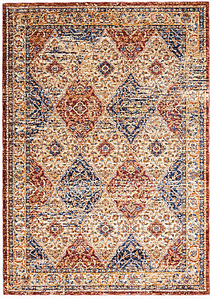 Nourison Multicolor 5'x8' Area Rug, Multi, large
