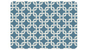 "Home Accents Premium Comfort 1'10"" x 2'7"" Interlink Mat, Blue, large"