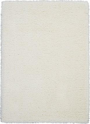 Nourison Luxe Shag White 5'x7' Flokati Area Rug, Ivory, large