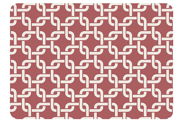 "Home Accents Premium Comfort 1'10"" x 2'7"" Interlink Mat, Red, large"