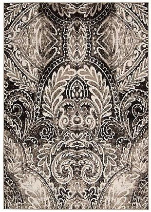 Nourison Glistening Nights MA501 Gray 5'x8' Area Rug, Light Gray, rollover
