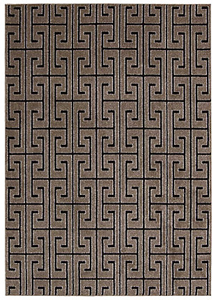 Nourison Glistening Nights Gray 5'x8' Area Rug, Gray, large