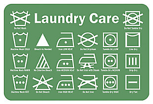 "Home Accents Premium Comfort 1'10"" x 2'7"" Laundry Care Label Mat, Green, rollover"
