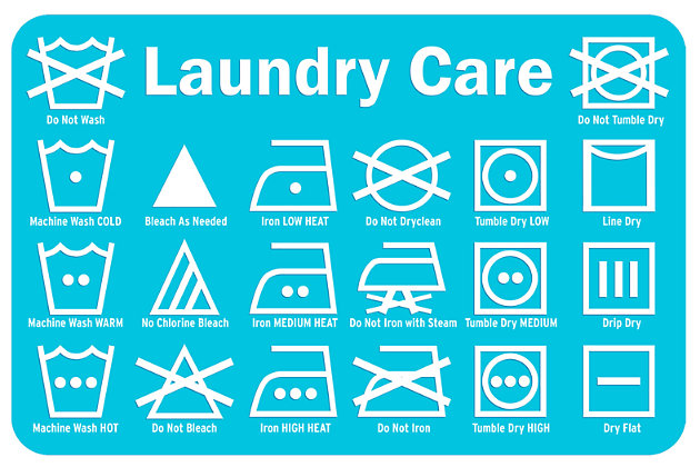 "Home Accents Premium Comfort 1'10"" x 2'7"" Laundry Care Label Mat, Blue, large"