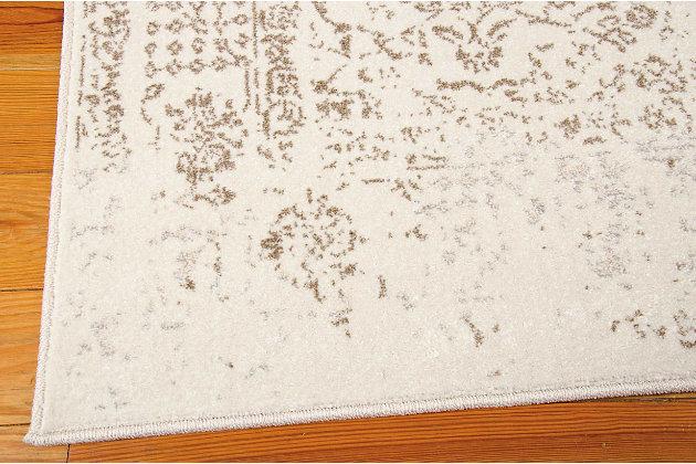 Nourison Glistening Nights White 5'x8' Area Rug, Ivory, large