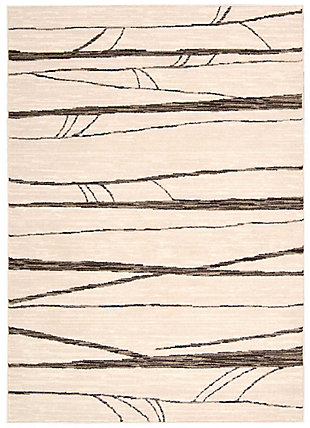 Nourison Glistening Nights MA512 White 5'x8' Area Rug, Ivory, large
