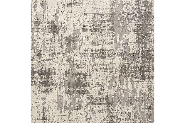 Nourison Gleam Gray And White 5'x7' Area Rug, Ivory/Gray, large