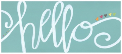 """Home Accents 2'1"""" x 5' Hello Accent Runner, Blue, large"""