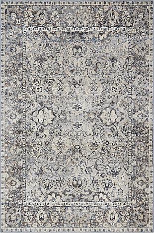 Nourison Home Malta MAI03 Gray 5'x8' Area Rug, Slate, large