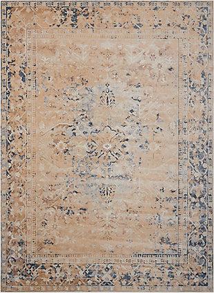 Nourison Home Malta Beige 5'x8' Area Rug, Taupe, large