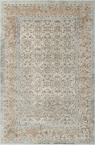 Nourison Home Malta Gray 5'x8' Area Rug, Slate, large
