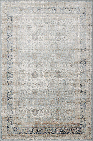 Nourison Home Malta White 5'x8' Area Rug, Cloud, large