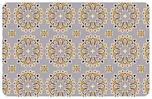 "Home Accents Premium Comfort 1'10"" x 2'7"" Knit Medallion Mat, , large"