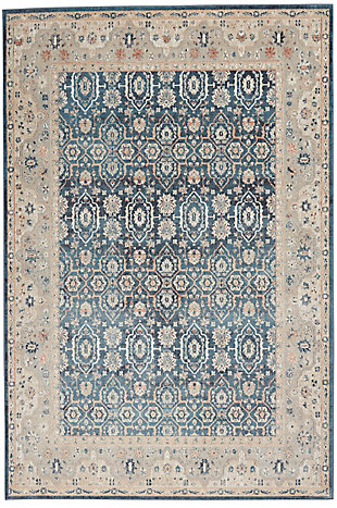Nourison Malta 5' x 8' Area Rug, Blue/Gray, large