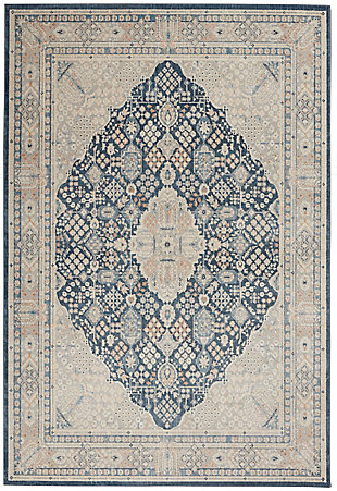 Nourison Malta 5' X 8' Area Rug, Blue/Gray, large