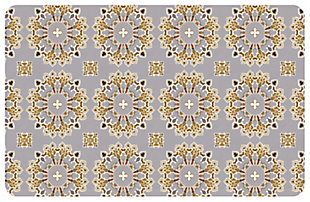 """Home Accents Premium Comfort 1'10"""" x 2'7"""" Knit Medallion Mat, , rollover"""