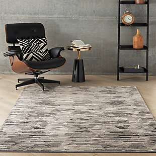 Nourison Uptown 5' x 7' Area Rug, Gray/Ivory, rollover